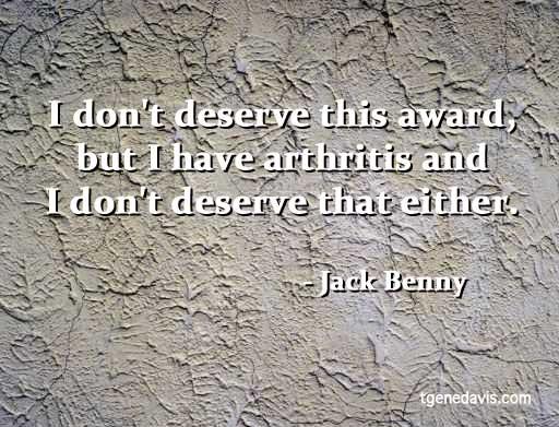 Jack Benny Quote