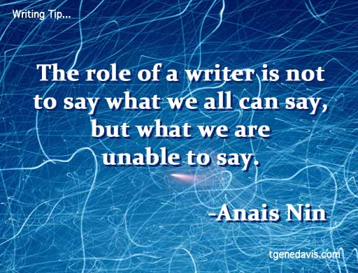 The Role of the Writer